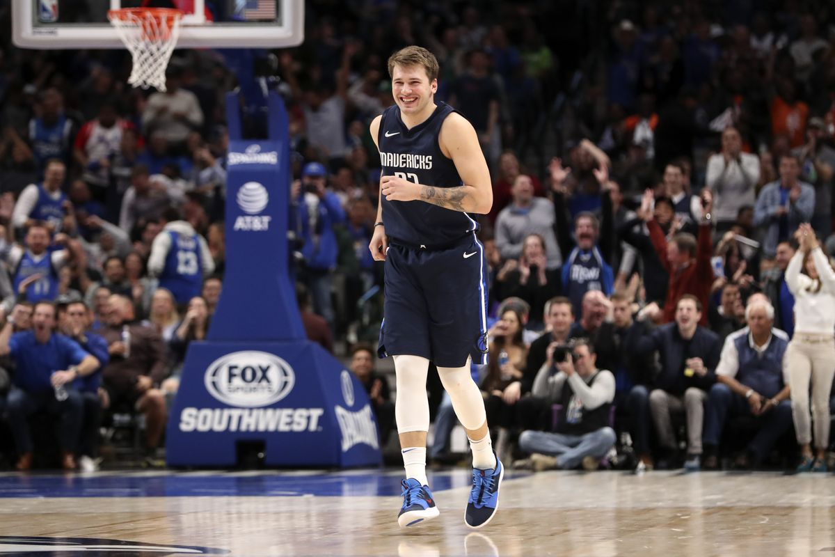 Dallas Mavericks forward Luka Doncic reacts during the fourth quarter against the Minnesota Timberwolves at American Airlines Center.