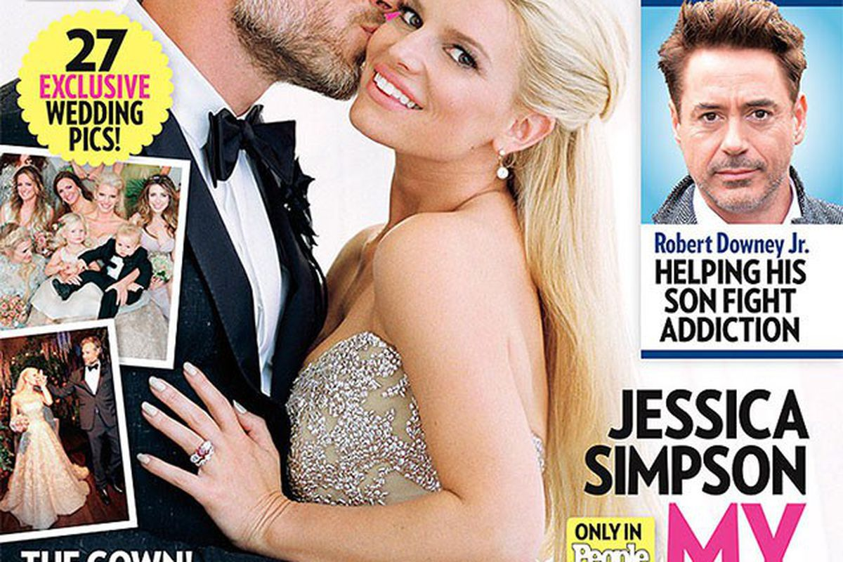 Heres jessica simpsons wedding dress if you care racked there was a lot of build up to the jessica simpson wedding dress adventures there was the wedding announcement build up junglespirit Images