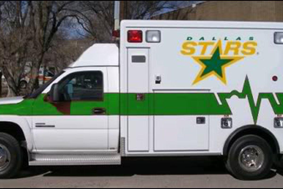 I was hoping the Dallas Stars ambulance wouldn't make an appearance this season.