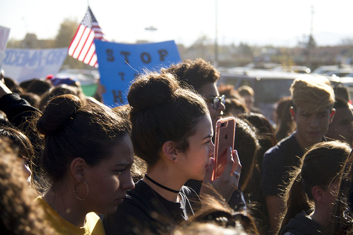 Students in southwest Denver walked out of school last week to protest Trump.