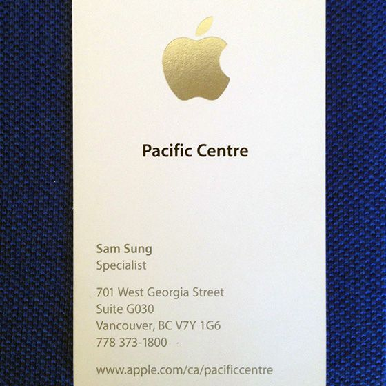 Apple specialist sam sung is selling his last business card for sam sung biz card colourmoves