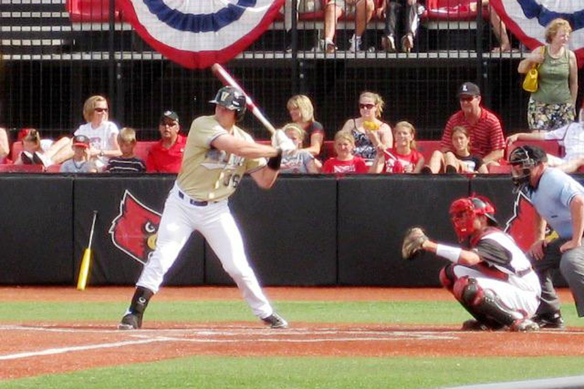 """Aaron Westlake hit his second home run of the NCAA Tournament in the ninth inning against Illinois State, providing the Commodores with some breathing room in what many have called """"the sloppiest game Louisville, KY has ever seen."""""""