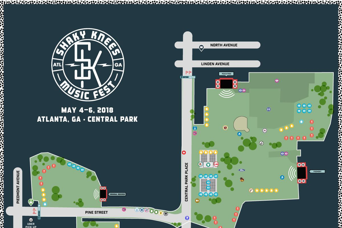Detroit Jazz Festival Map on