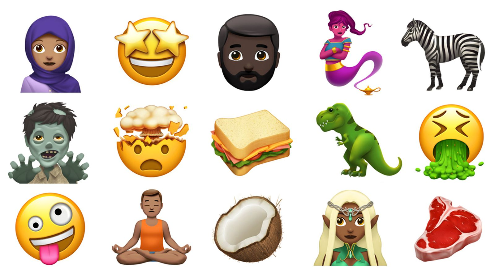 photo image Apple shows off some of the new emoji coming to iOS and macOS later this year