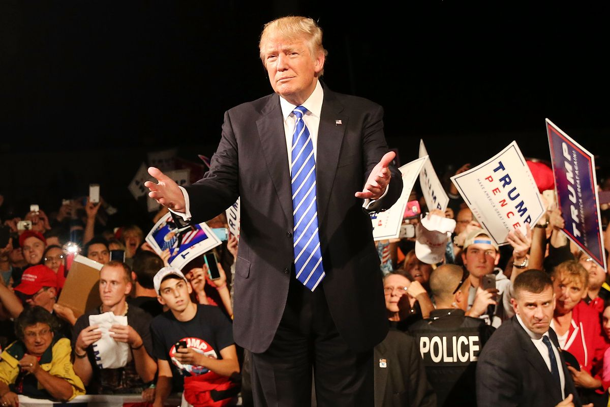 Donald Trump Holds Campaign Rally In Michigan