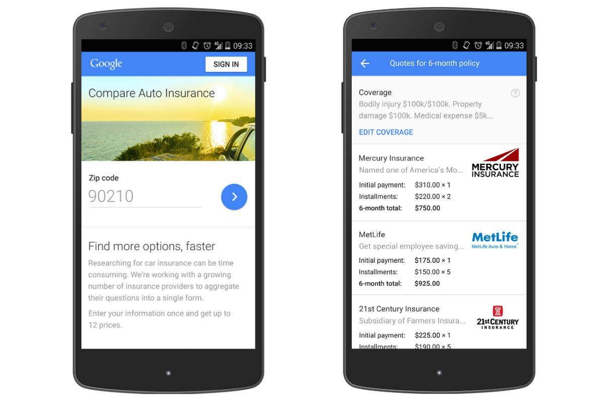 Google Now Lets You Compare Auto Insurance Quotes In California