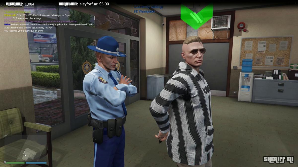 GTA Online - Sheriff Eli at police station