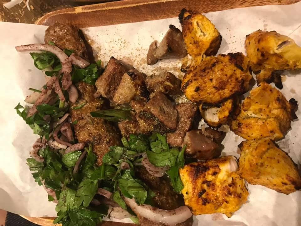 Afghan kebabs at Red Camel in Leytonstone