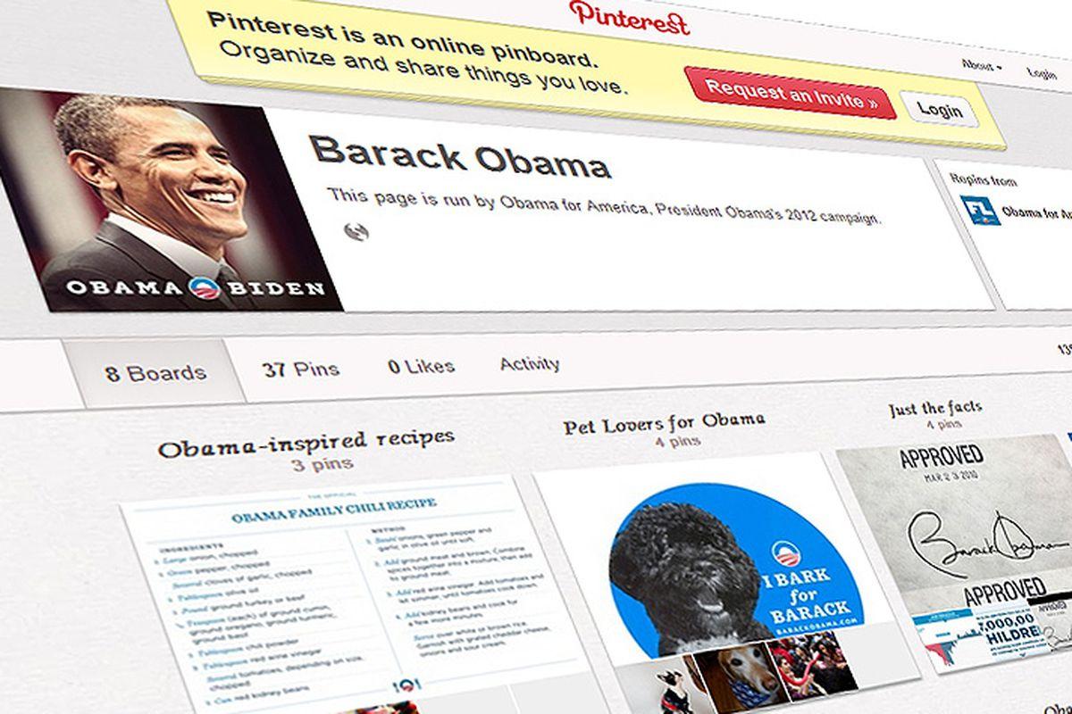 Obama on Pinterest