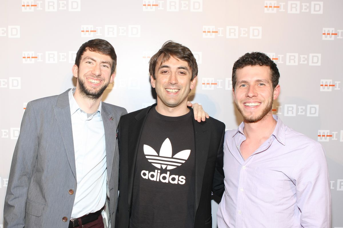 Three of General Assembly's founders at a party in 2013