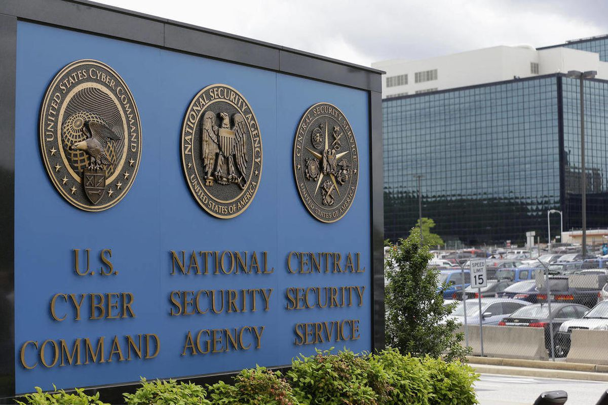"""This June 6, 2013 file photo shows the sign outside the National Security Agency campus in Fort Meade, Md. Telephone companies are quietly balking at the idea of changing how they collect and store Americans""""™ phone records to help the NSA""""™s surveillance"""