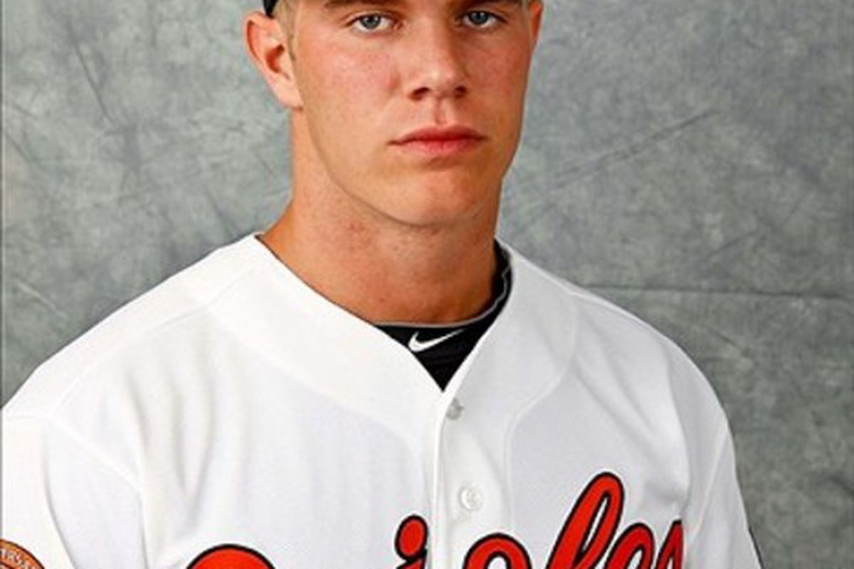 March 1, 2012; Sarasota, FL, USA; Baltimore Orioles starting pitcher Dylan Bundy (82) poses for a portrait during photo day at the spring training headquarters.  Mandatory Credit: Derick E. Hingle-US PRESSWIRE