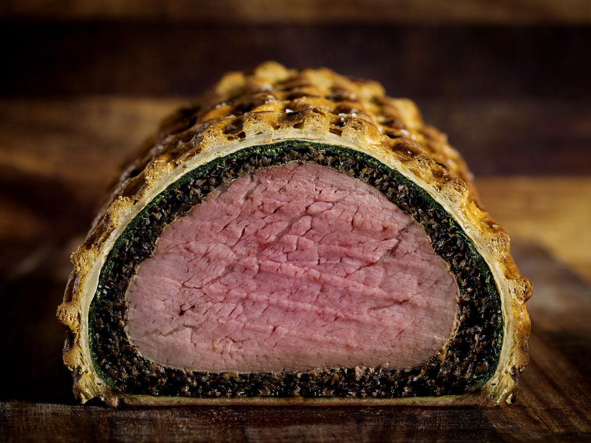 Beef wellington at London restaurant Holborn Dining Room