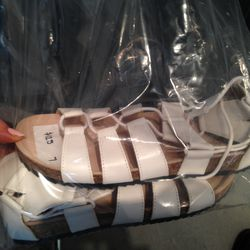 Sample sandals, $125