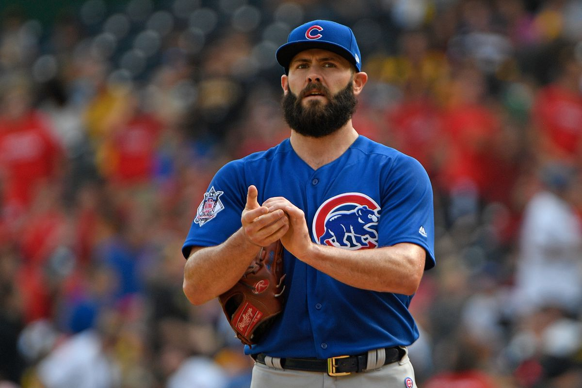 Jake Arrieta exits game in third inning with apparent leg injury
