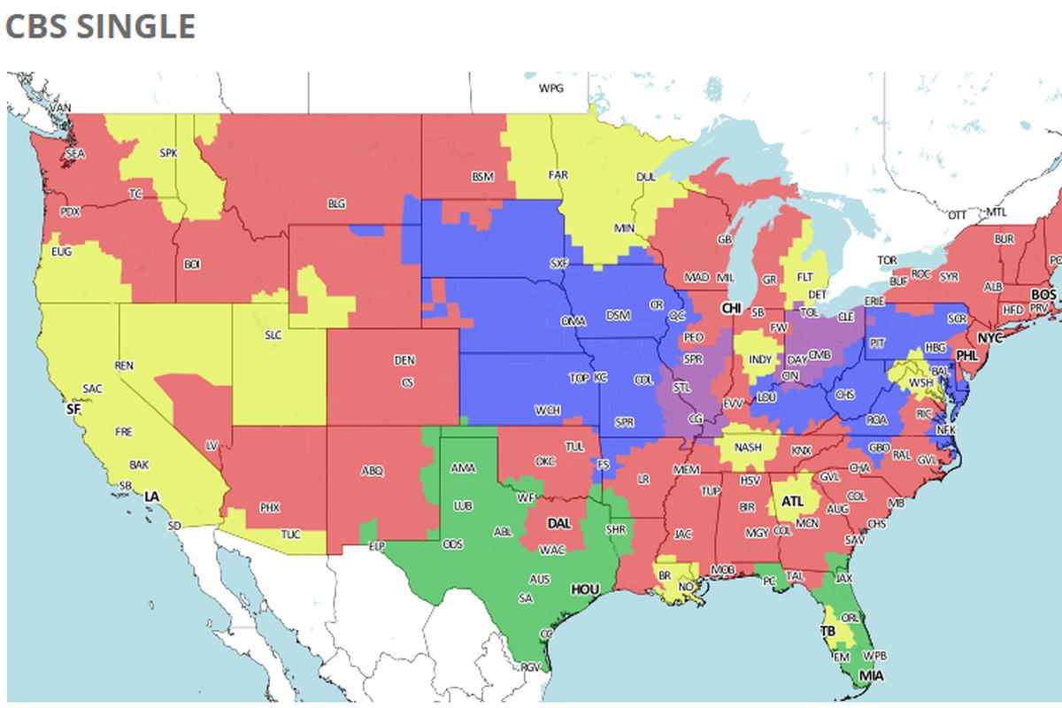 Cincinnati, national NFL TV coverage map for Week 7 - Cincy Jungle