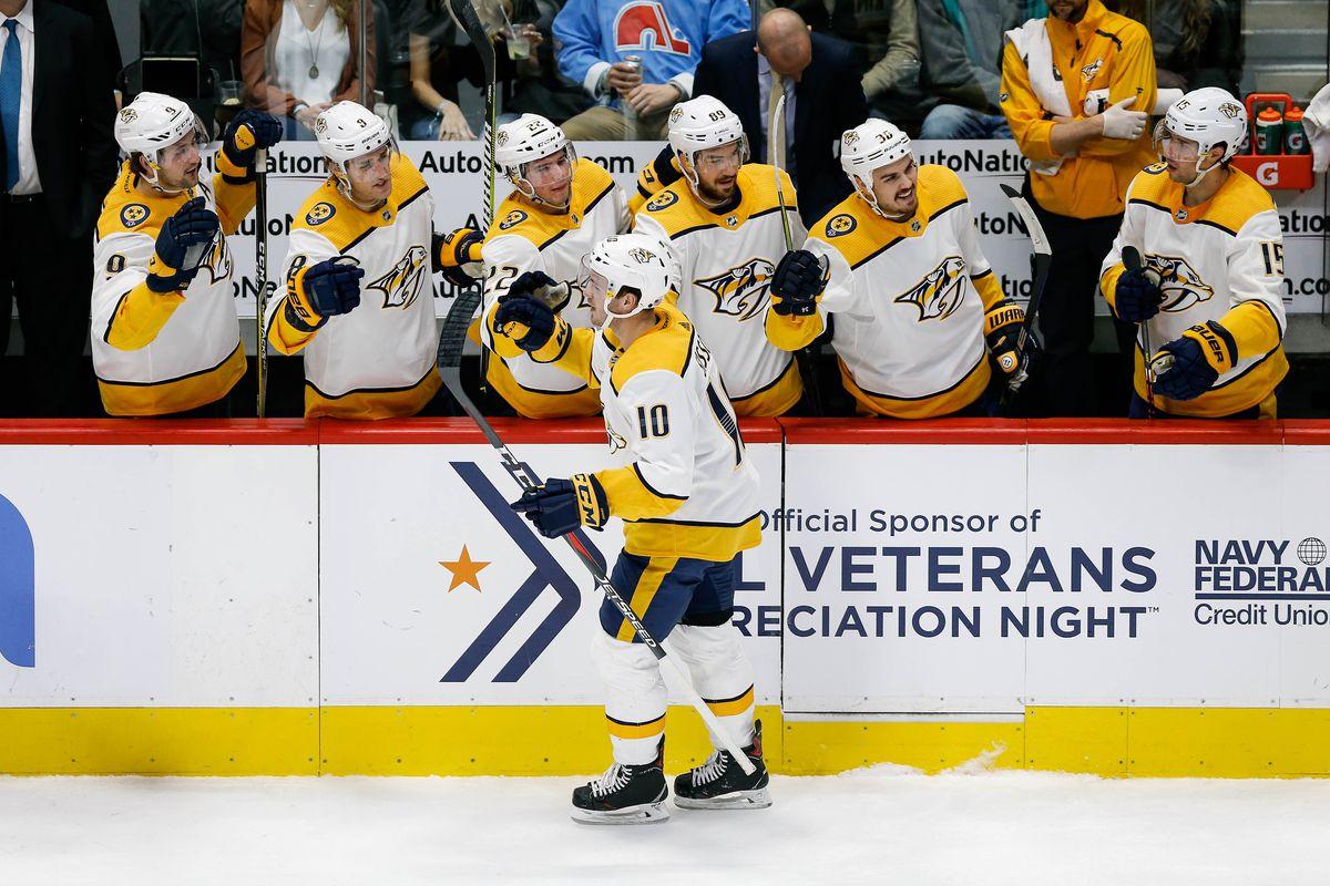 NHL: Nashville Predators at Colorado Avalanche