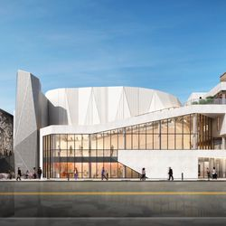 The new exterior planned for the Steppenwolf Theatre. | Adrian Smith + Gordon Gill (provided)