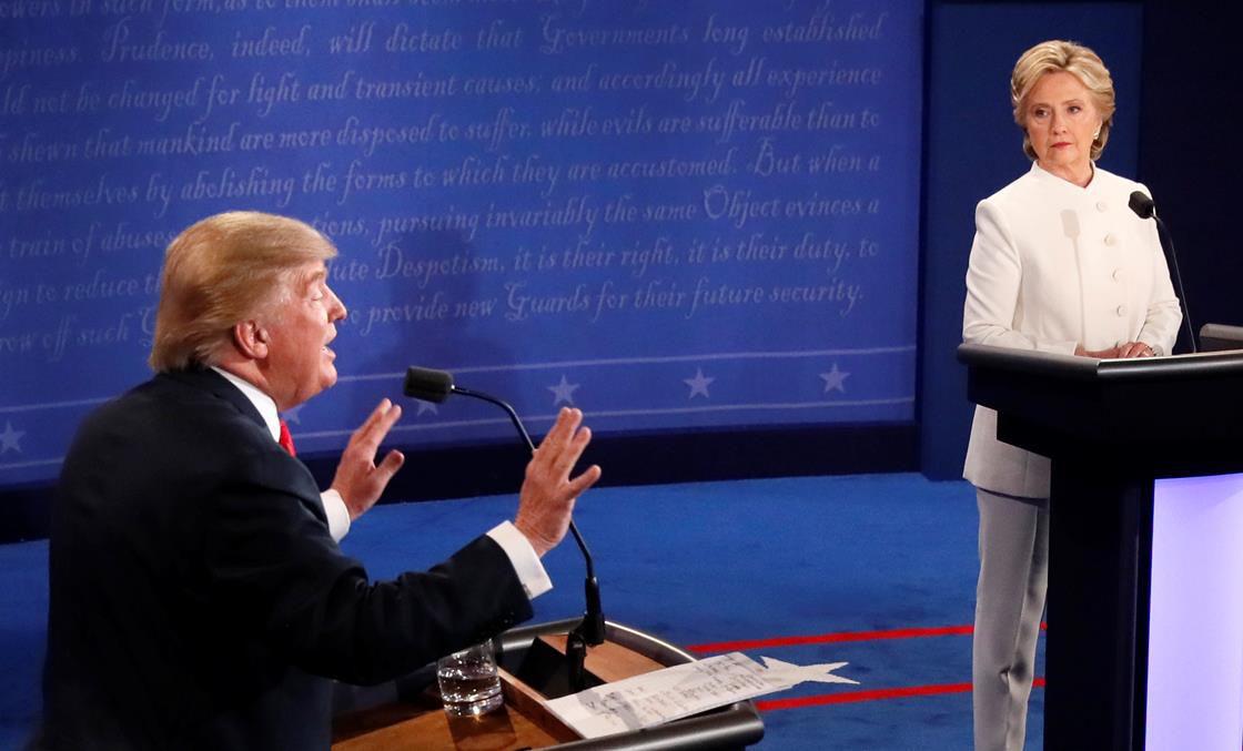 Trump and Clinton at the debate