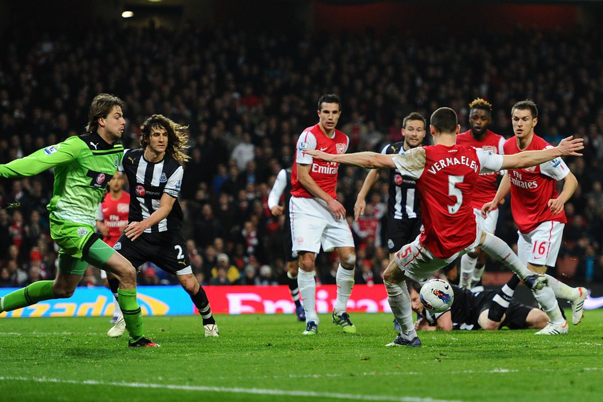 Vermaelen scoring a goal, which like, was awesome, but he ran 100 yards to do it.
