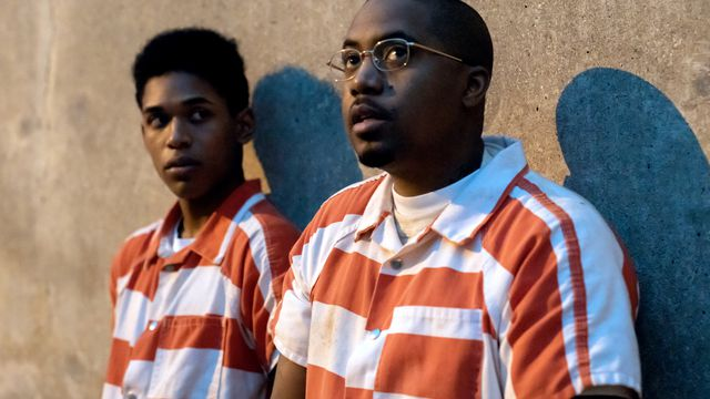 Kevin Harrison Jr. as Steve Harmon, Nasir 'Nas' Jones as Raymond 'Sunset' Green in Monster