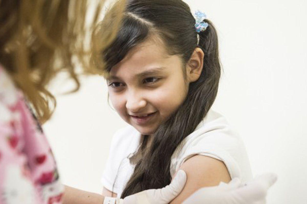 Monserrat Cholico, 8, en la Crawford Kids Clinic en Aurora en 2015 (Denver Post).