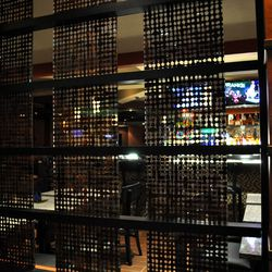 The view into the bar.
