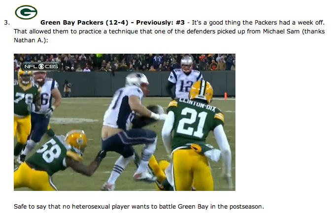 a3b2e039 Was this Michael Sam joke about the Green Bay Packers funny or ...