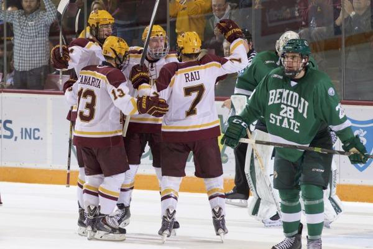 Kyle Rau scored two goals for the #1 Gophers this weekend!
