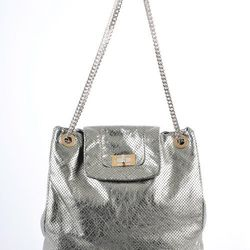 Chanel silver perforated tote was $1,595, now $1,295