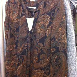Silky paisley tops, $80