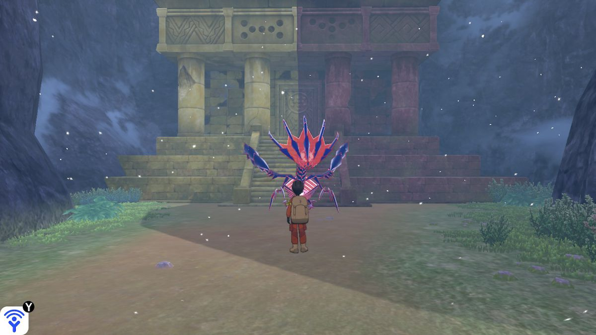 A two color temple in Pokémon Sword and Shield