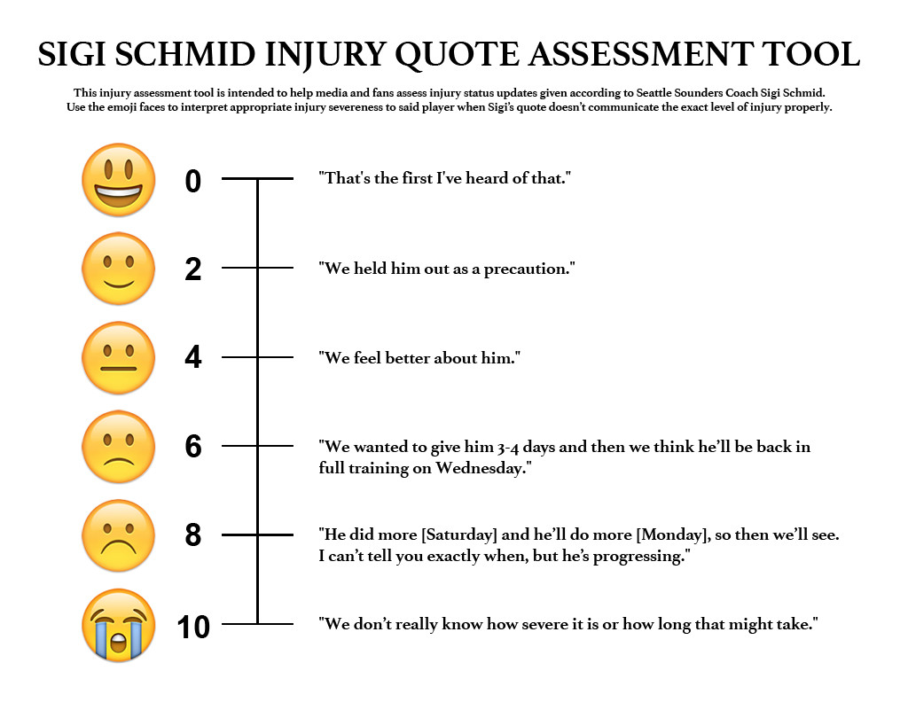Sigi Schmid Injury Quote Assessment Tool