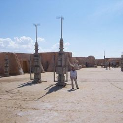 BYU professor Jani Radebaugh, pictured here on a set in Tunisia, credits the Star Wars films for inspiring her interest in the geology of other planets.