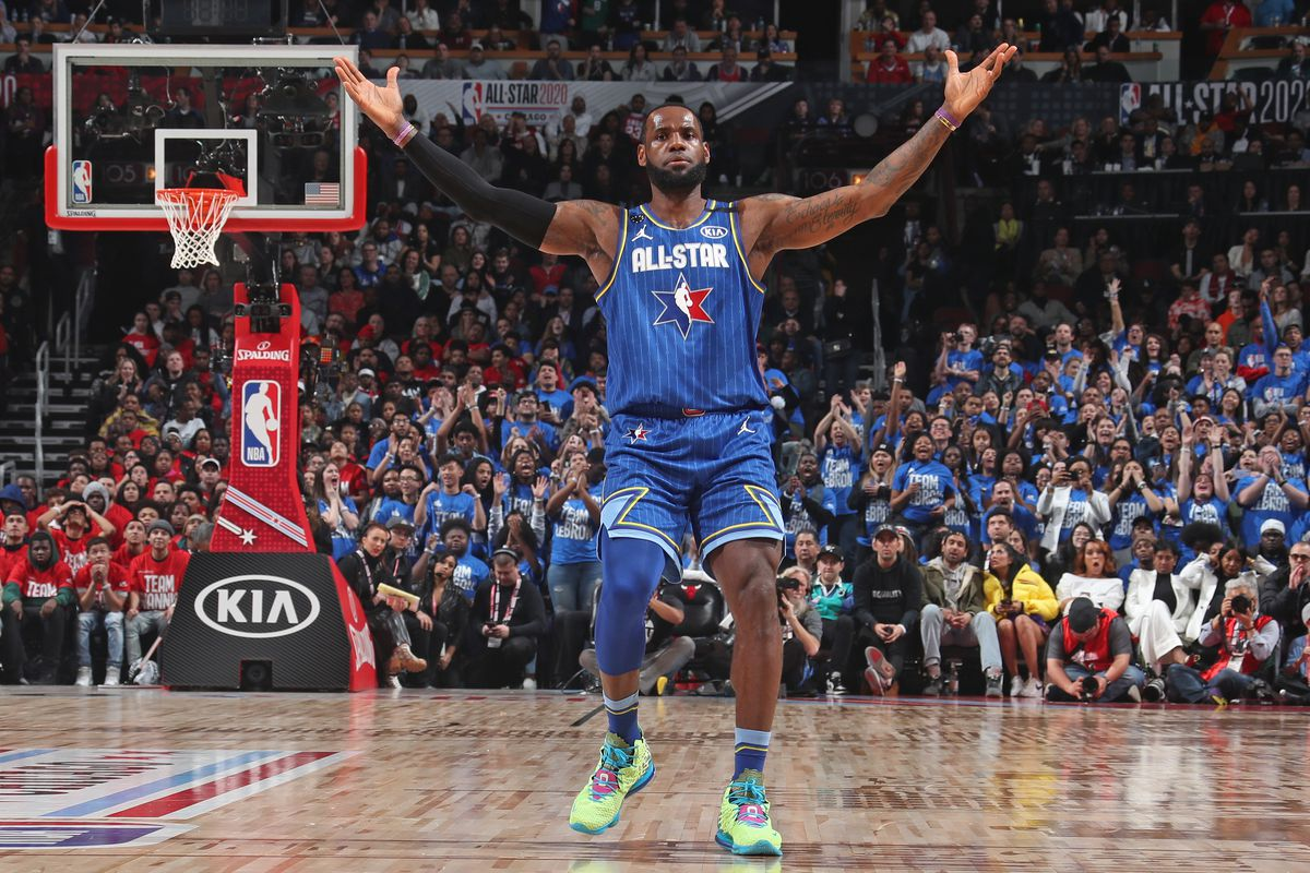 LeBron James #2 of Team LeBron reacts to a play during the 69th NBA All-Star Game on February 16, 2020 at the United Center in Chicago, Illinois.