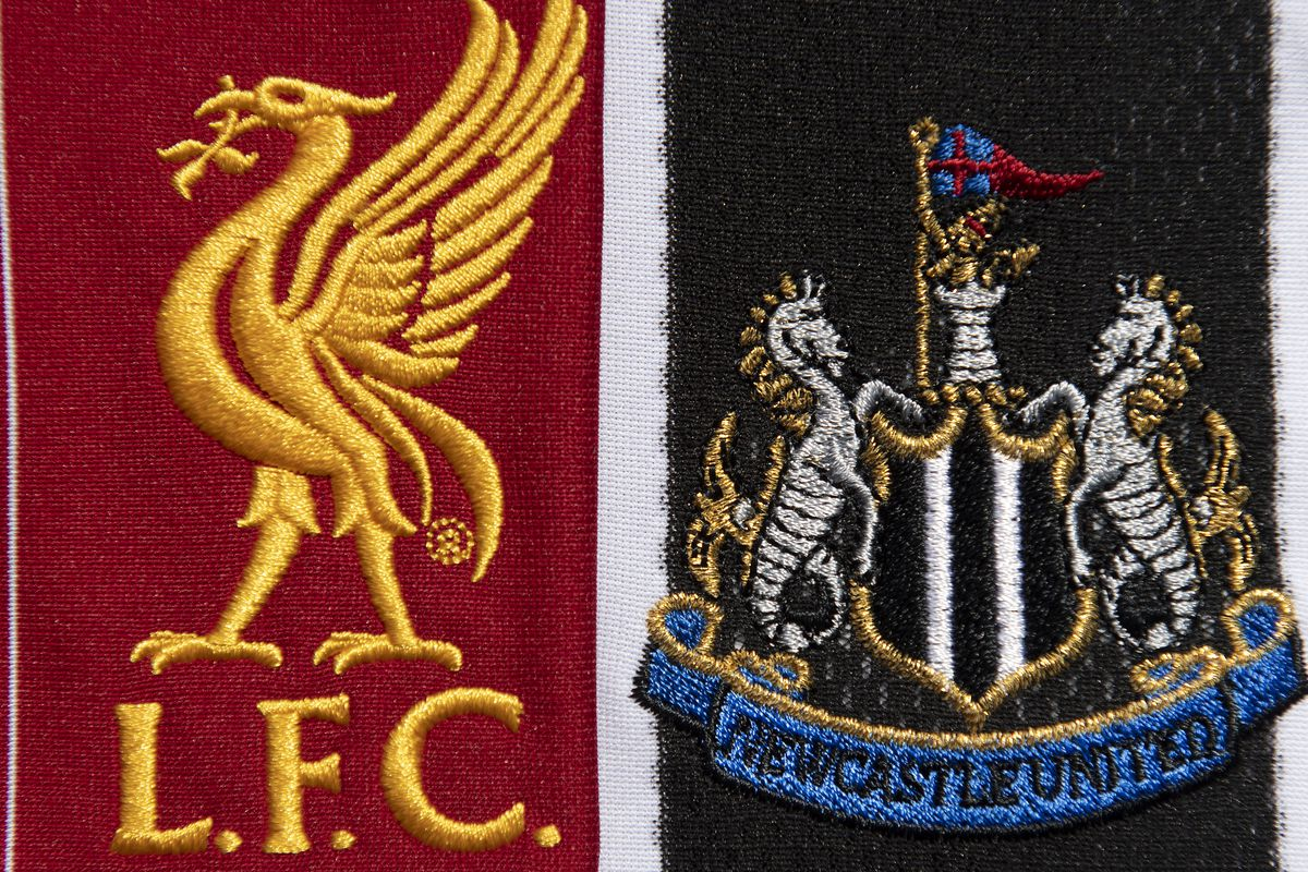 The Liverpool and Newcastle United Club Crests
