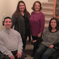 Morena Barahona Merlos poses with her children, Vance, left, Martha and Kathy.