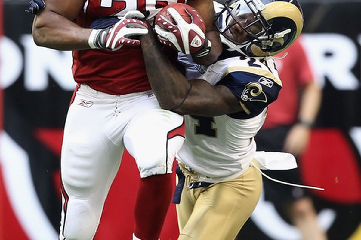 Cornerback Ronald Bartell of the St. Louis Rams is day to day with a shoulder injury.