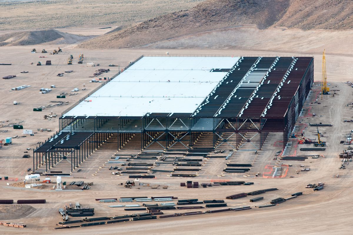 Construction on the Tesla Motors Gigafactory in Nevada in March 2015