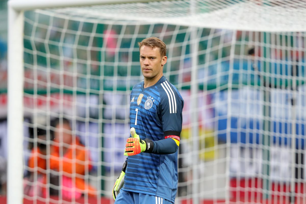 KLAGENFURT, AUSTRIA - JUNE 02: Manuel Neuer of Germany looks on during the International Friendly match between Austria and Germany at Woerthersee Stadion on June 2, 2018 in Klagenfurt, Austria.