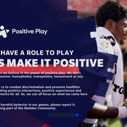 One of eight splash screens informing players about <em>Madden NFL 21</em>'s key features.