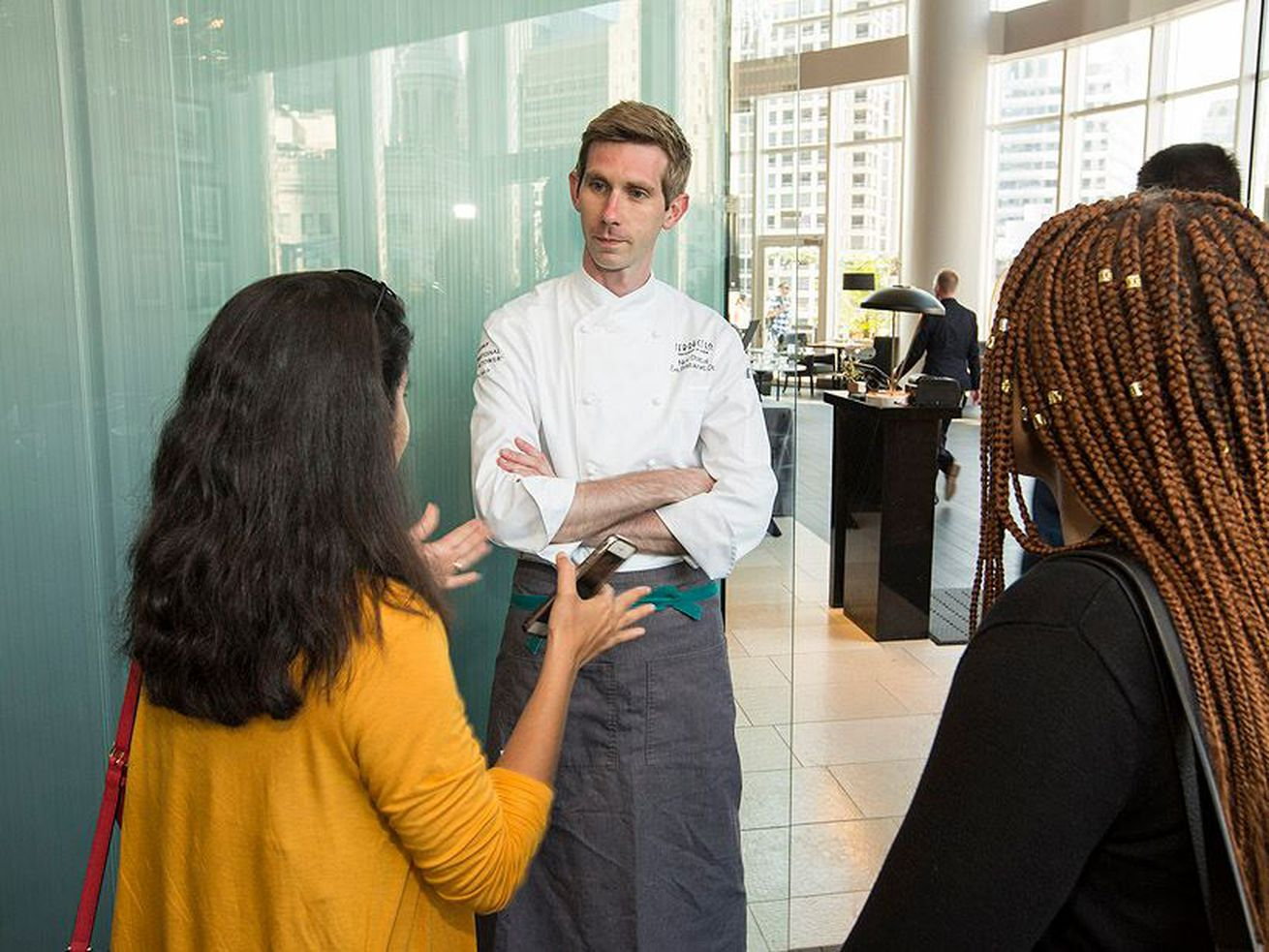 Terrace 16 chef Nick Dostal at the restaurant's opening in June.
