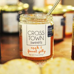 """<a href=""""http://www.crosstownsweets.com/""""><b>Crosstown Sweets</b></a> offer a variety of jams that are made in small batches using only local and seasonal fruits that are sustainably grown. Organic sugar is used and no pectin is added. Founder <b>Albane S"""