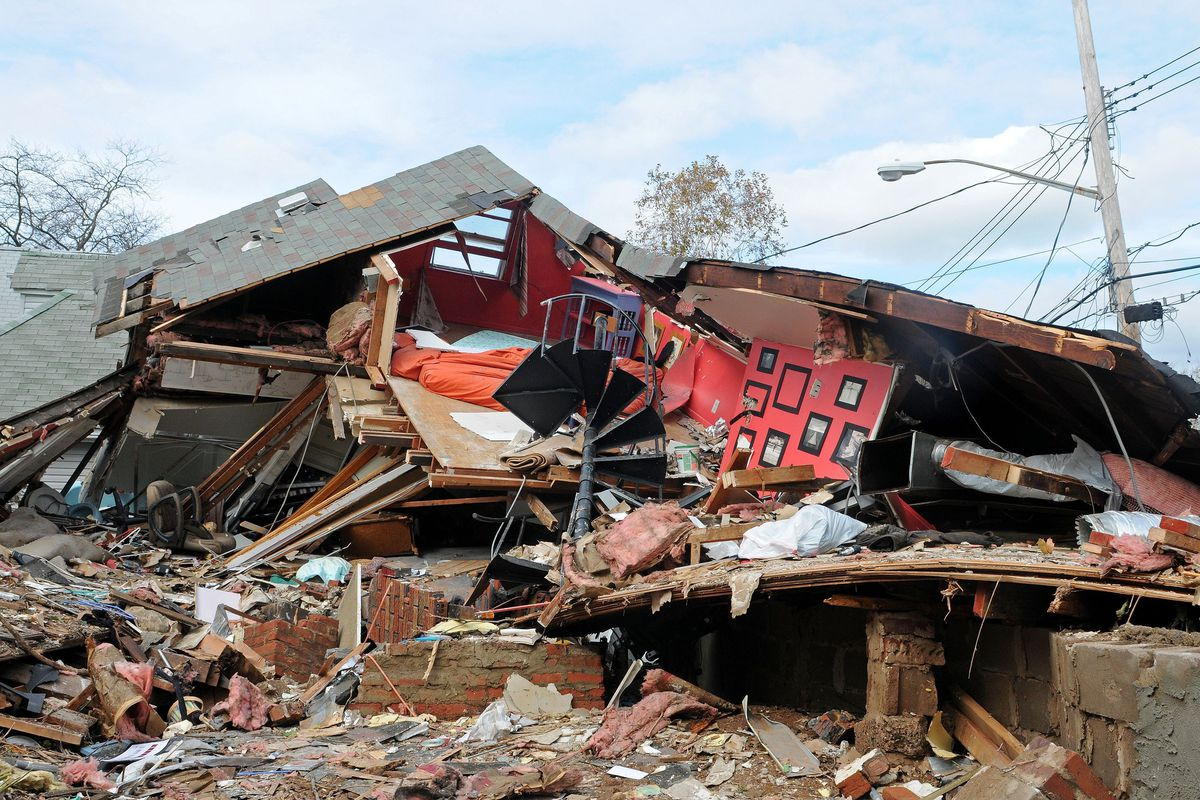 Cedar Grove Beach home destroyed during Hurricane Sandy