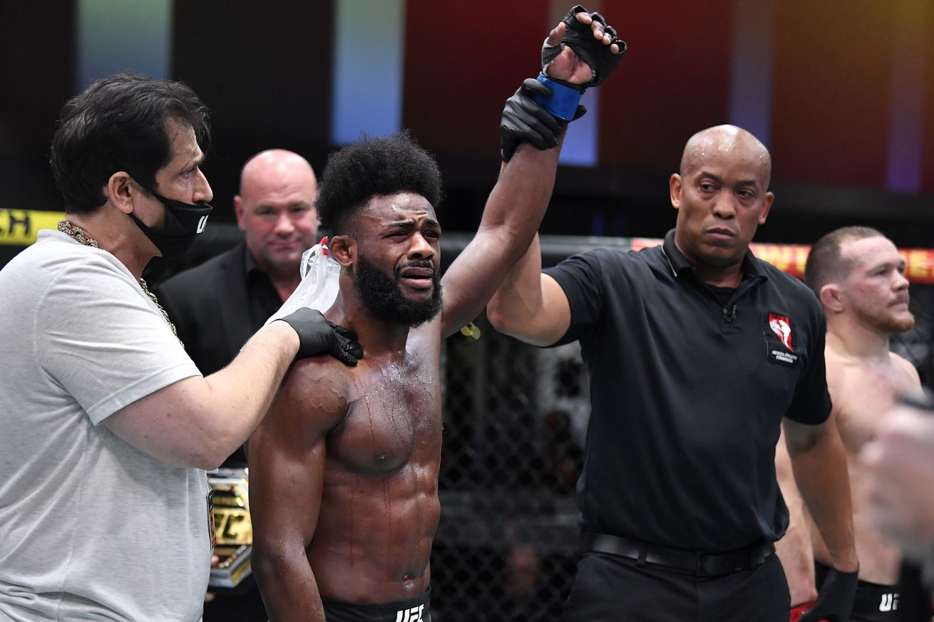Video: Aljamain Sterling reacts to winning bantamweight title via DQ at UFC 259: 'That's not the way