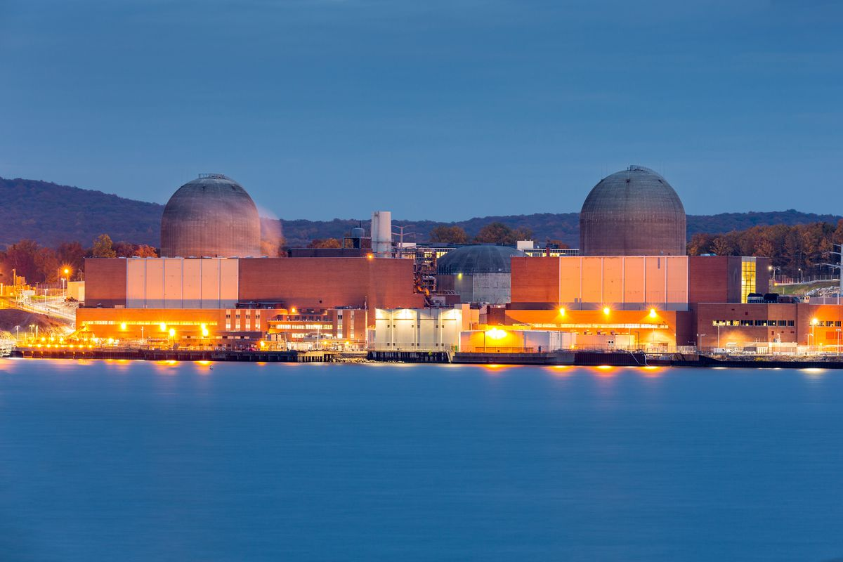 The Indian Point nuclear power plant north of the city.