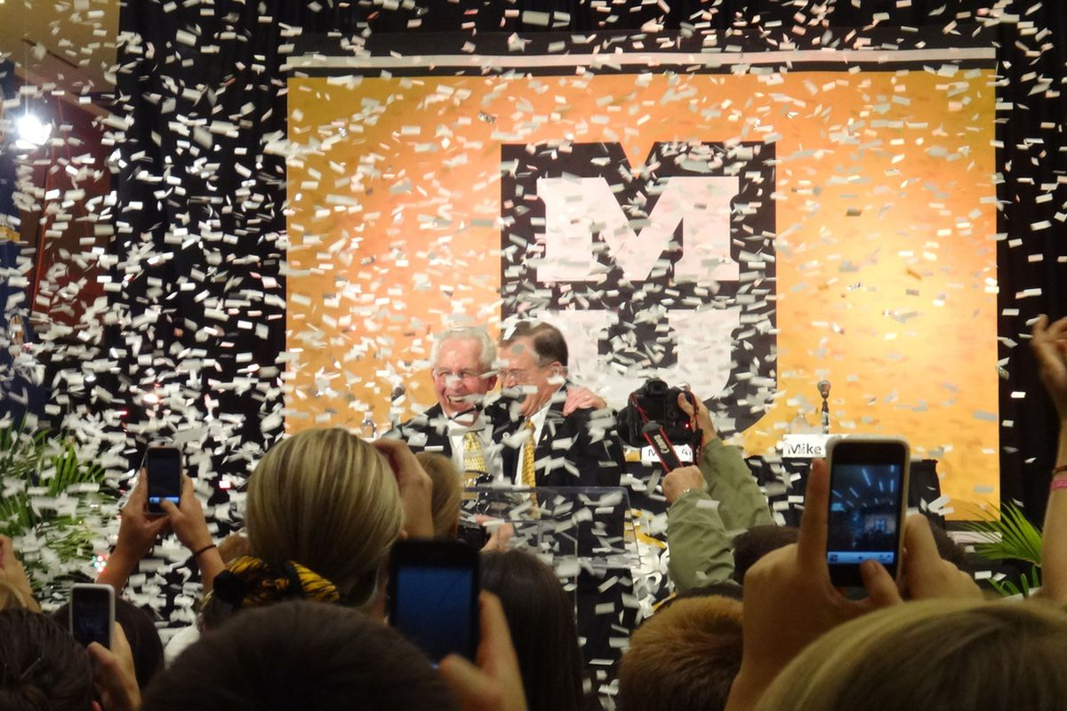 From November: Mike Slive, Brady Deaton and lots of confetti.
