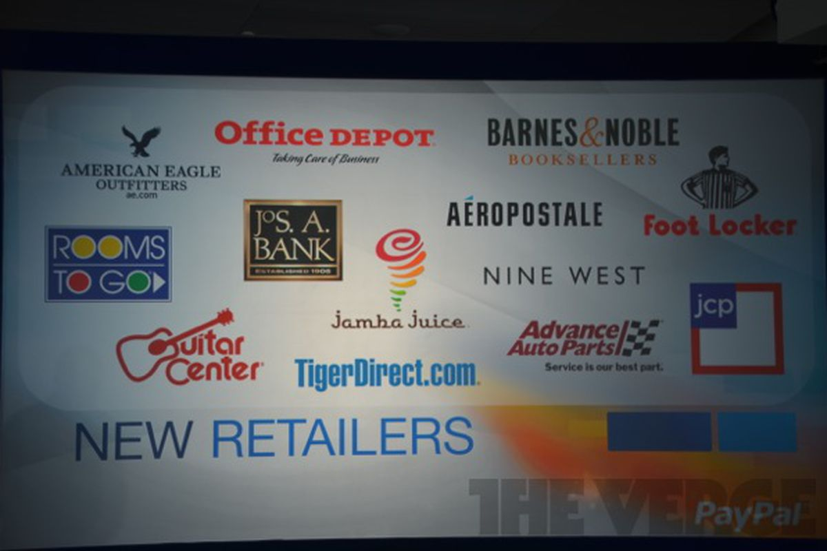 Paypal retaili partners