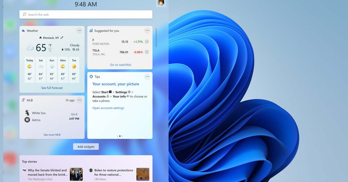 How to work with the Windows 11 Widget panel
