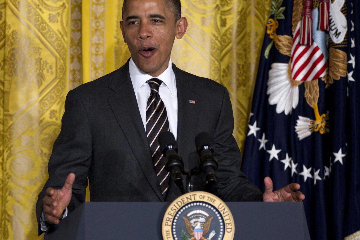President Barack Obama speaks during the Easter Prayer Breakfast in the East Room of the White House in Washington, Wednesday, April 4, 2012.